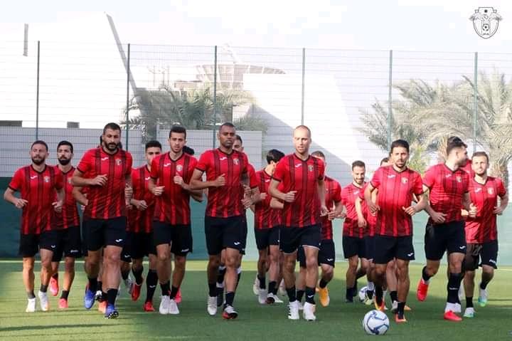 منتخب الأردن ينهي تحضيراته إستعداداً لمواجهة طاجيكستان   الرياضي نت